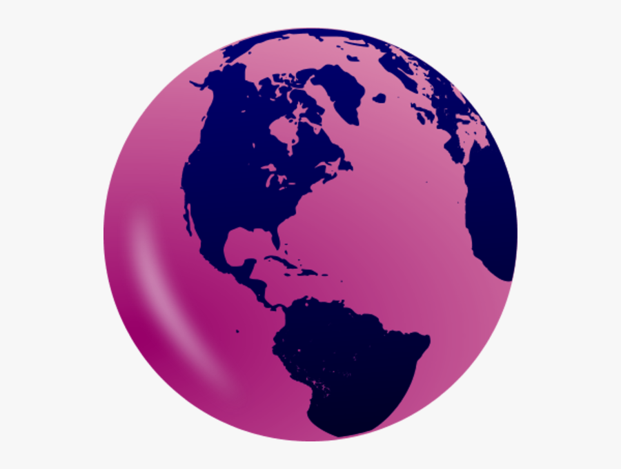 World Globe Showing The Americas - Transparent Background Earth Clipart Png, Transparent Clipart