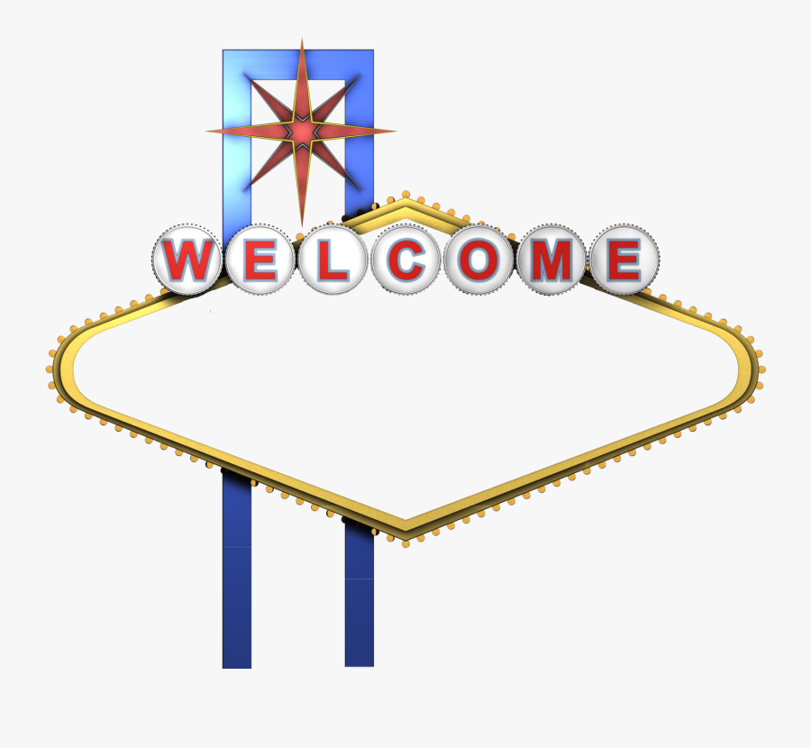 Welcome To Fabulous Las Vegas Sign Photography - Welcome To Las Vegas Sign Blank, Transparent Clipart