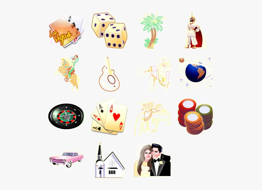Las Vegas Icons Png, Transparent Clipart