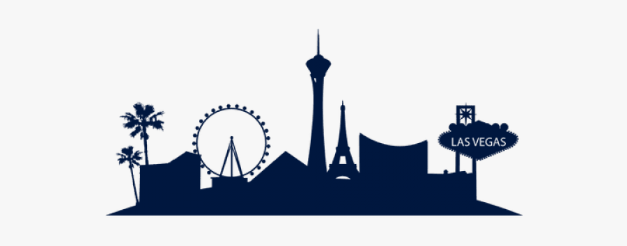Las Vegas Skyline Svg, Transparent Clipart