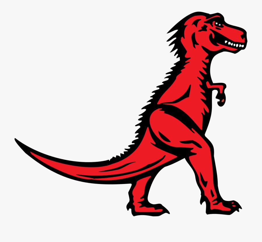 Logo T Rex Vector - Red T Rex Logo, Transparent Clipart