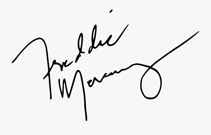 Transparent Freddie Mercury Clipart - Freddie Mercury Signature Png, Transparent Clipart