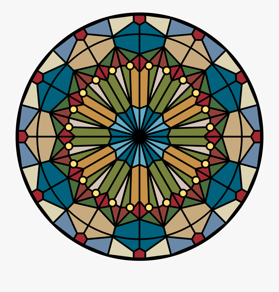 Stained Glass Round Windows Clipart , Png Download - Window In Church Circle, Transparent Clipart