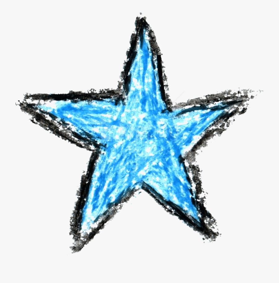 Clip Art Marine Crayon - Star Drawing Transparent Background, Transparent Clipart