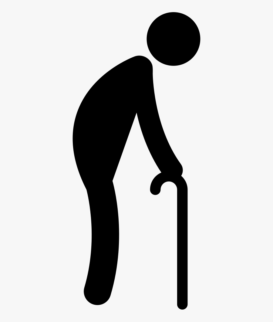Walking Old Man Icon, Transparent Clipart