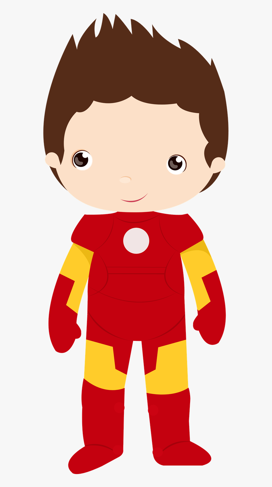 Cute Avengers Clipart - Iron Man Png Animado, Transparent Clipart
