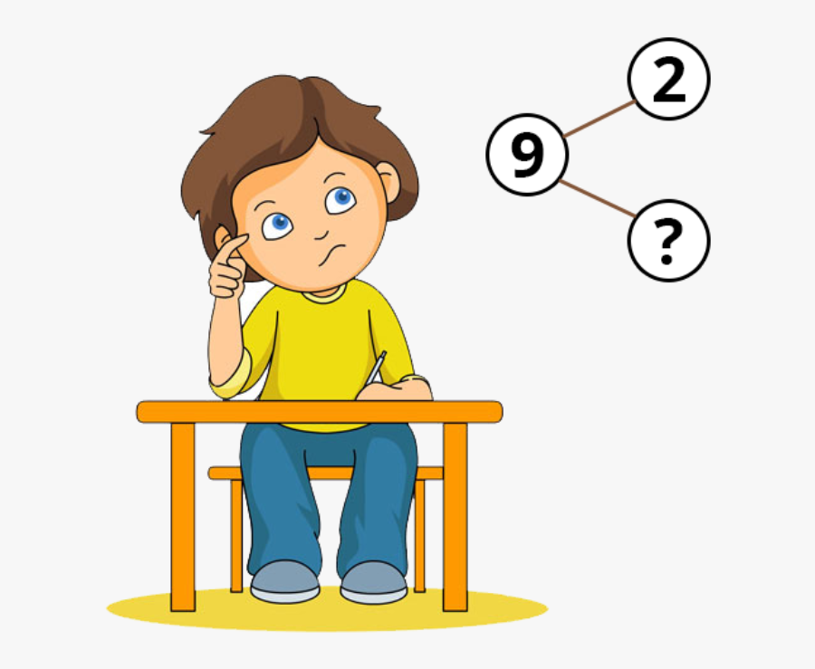 Student Girl Thinking Clipart, Transparent Clipart