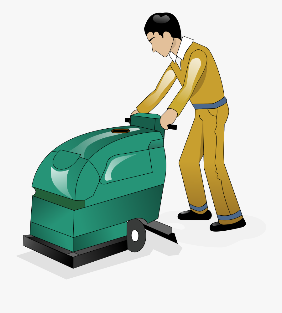 Cleaning Clipart Scrub Floor - Floor Cleaning Clipart, Transparent Clipart