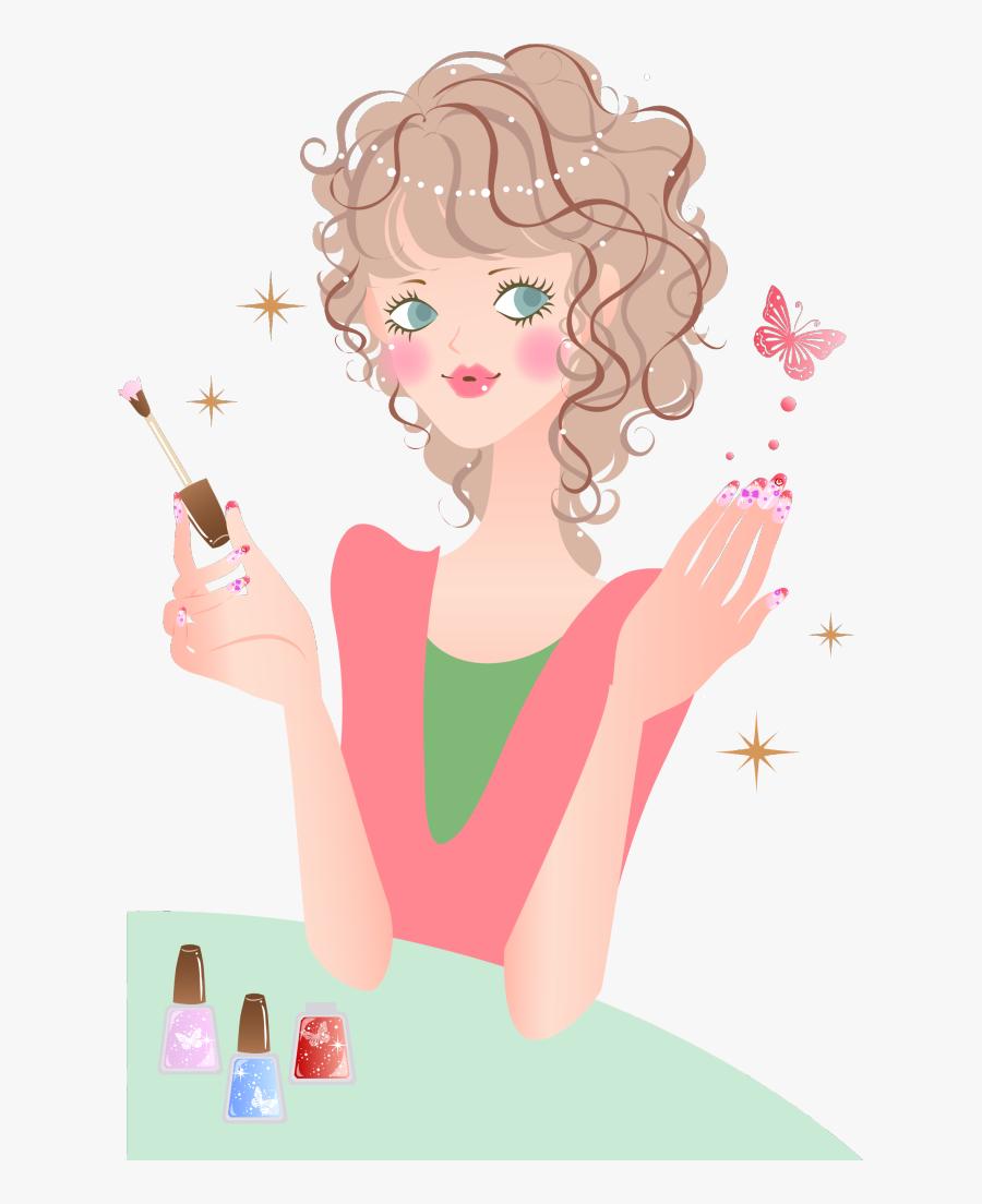 Boneca Manicure Desenho Free Transparent Clipart Clipartkey