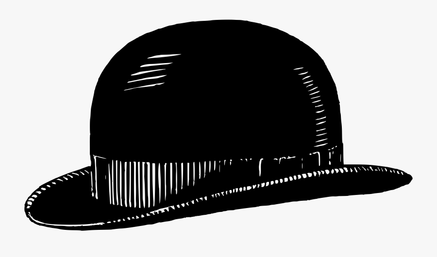 Monochrome Photography,cap,headgear - Bowler Hat Clipart, Transparent Clipart