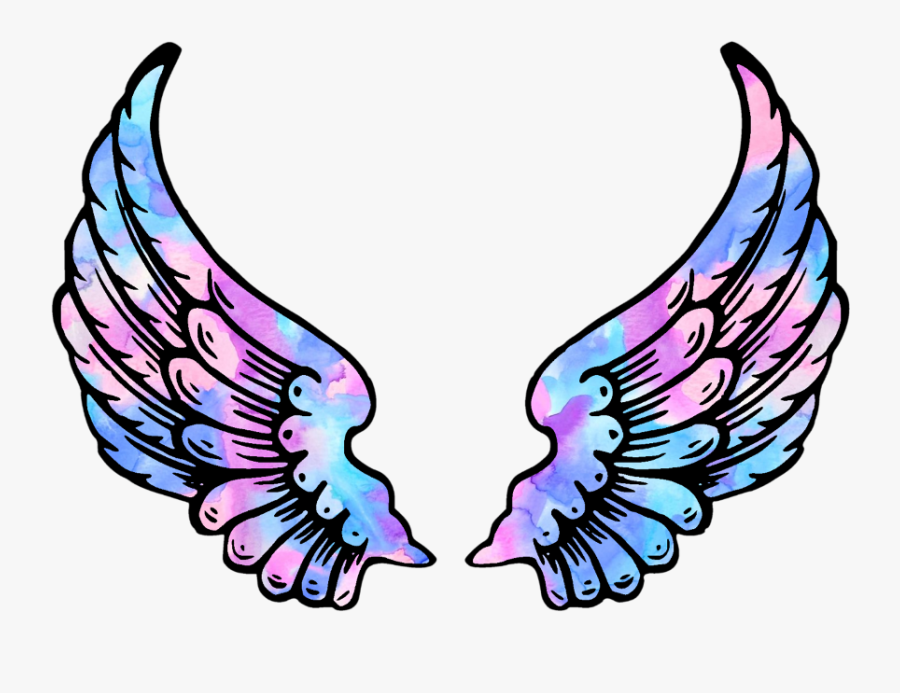 #wings #angel #angelwings #space #galaxy #stars #star - Pink Angel Wings Png, Transparent Clipart