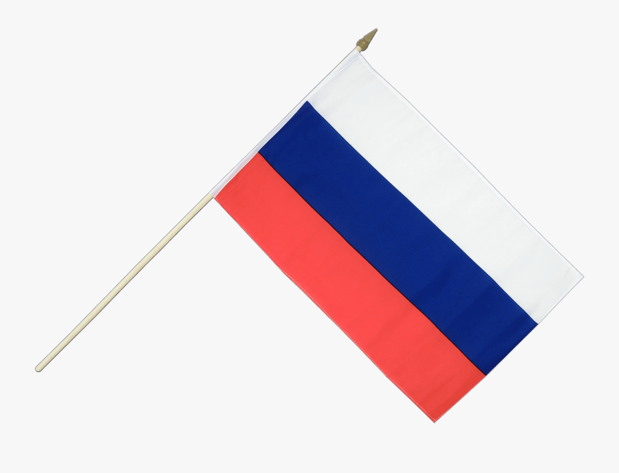 Russia Flag On Stick, Transparent Clipart