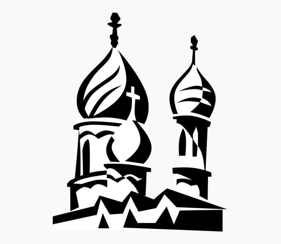 Vector Illustration Of Russian Eastern Orthodox Religion - Vector Clipart Russian Art Clipart, Transparent Clipart