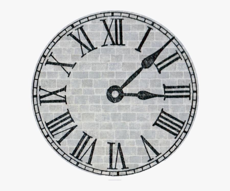 Transparent Reloj Clipart - Antique Clock With Roman Numbers, Transparent Clipart