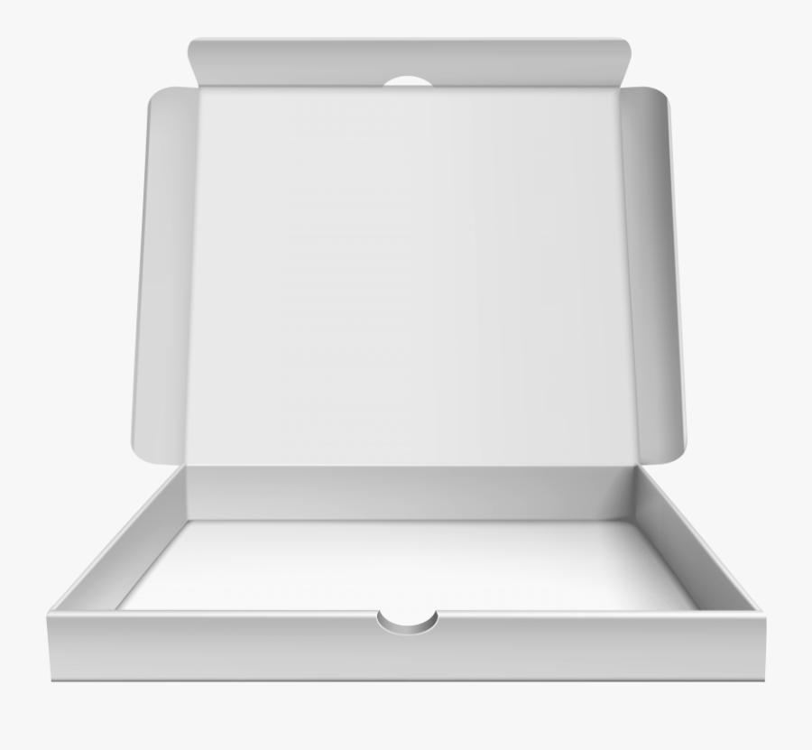 Open Pizza Box - Open White Pizza Box, Transparent Clipart