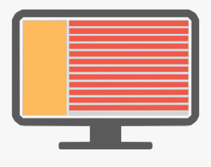 Transparent Computer Screen Png - Computer Monitor, Transparent Clipart