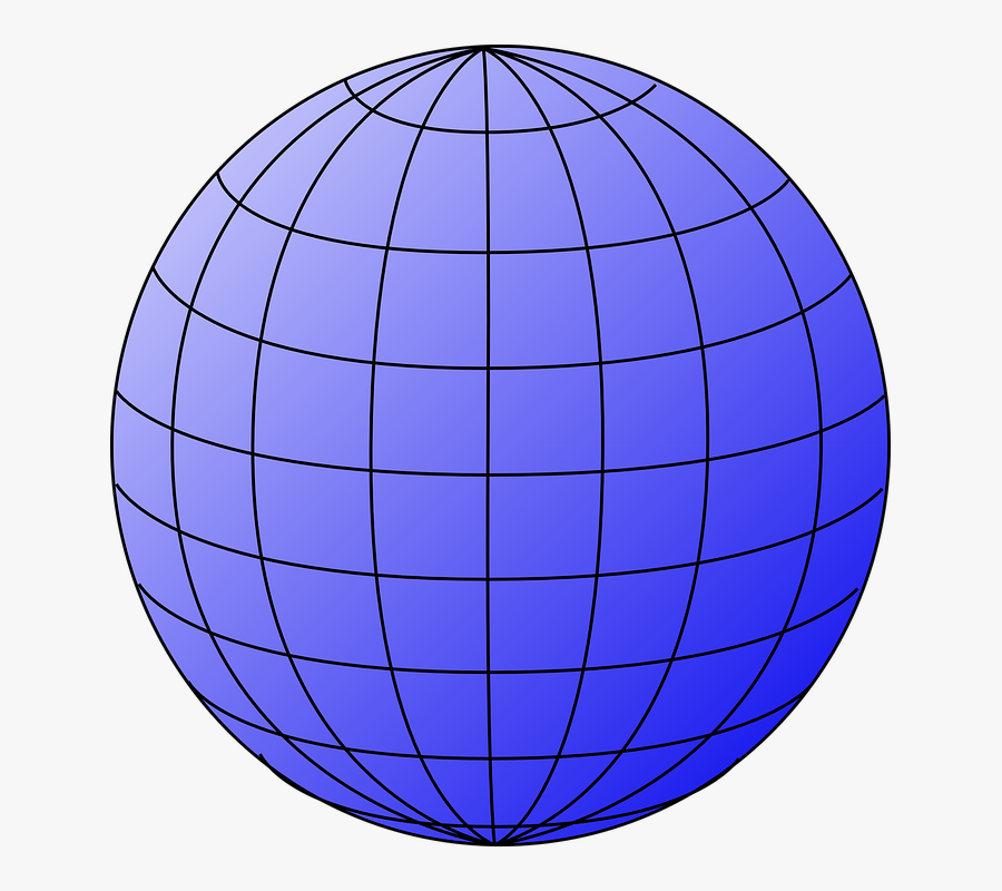 Big Blue Wire Globe Svg Clip Arts - Wire Globe Png, Transparent Clipart
