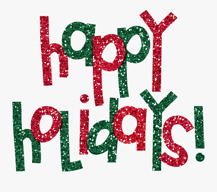 Free Happy Holidays Png Results - Red And Green Holiday, Transparent Clipart
