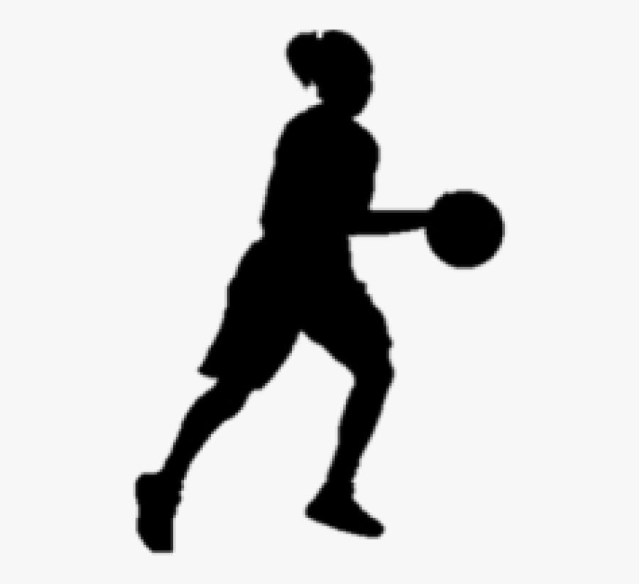 Basketball Girl Silhouette Image Transparent Download - Basketball Silhouette Girl Png, Transparent Clipart