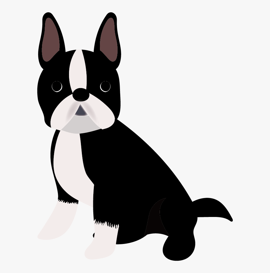 Boston Terrier Puppy Dog Breed Companion Dog French - Boston Terrier Cartoon Transparent Background, Transparent Clipart