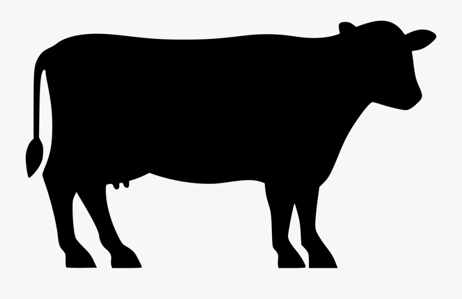 Angus Cattle Beef Cattle Silhouette Clip Art - Transparent Farm Animal Silhouette, Transparent Clipart