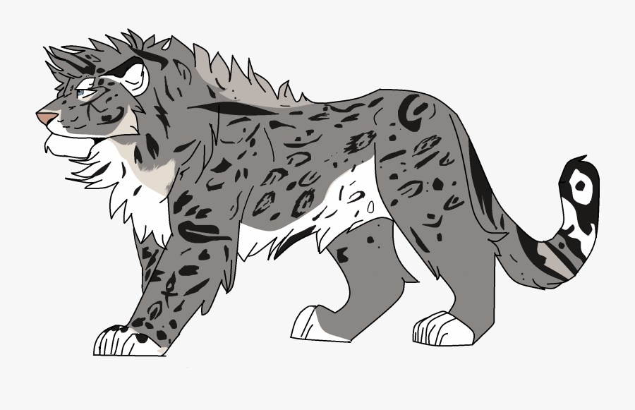 Drawn Snow Leopard Simba - Snow Leopard And Lion, Transparent Clipart