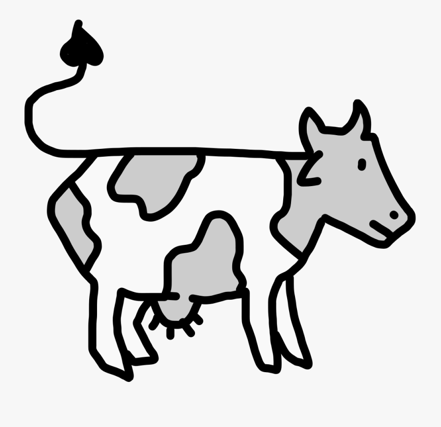 Cow Cattle Egret And Cattle Drawing Free Transparent