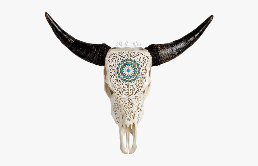 Clip Art Bull Head Skulls - Carved Cow Skull, Transparent Clipart
