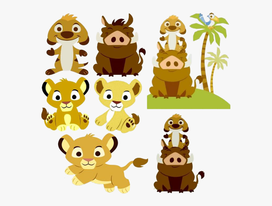 Baby Lion King Characters, Transparent Clipart