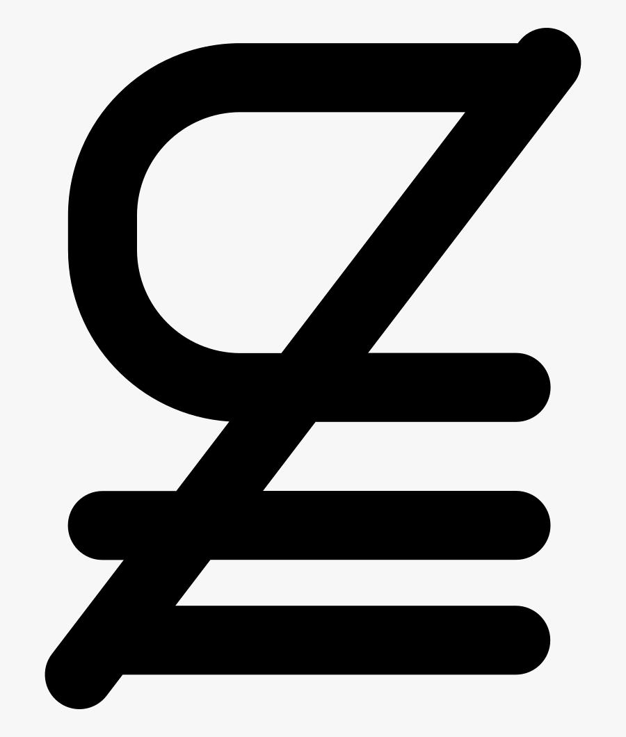 Subset Of Above Not Equal To Mathematical Symbol - Subconjunto Simbolo Matematico, Transparent Clipart