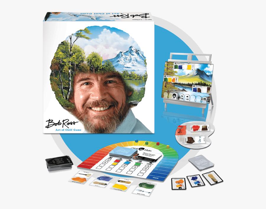 Bob Ross Art Of Chill Board Game Contents - Bob Ross, Transparent Clipart