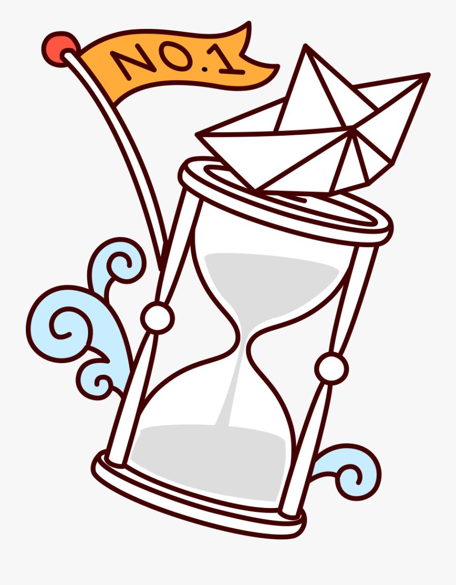 Hourglass Clip Art Painted White Transprent Png - Reloj De Arena Animado Para Colorear, Transparent Clipart