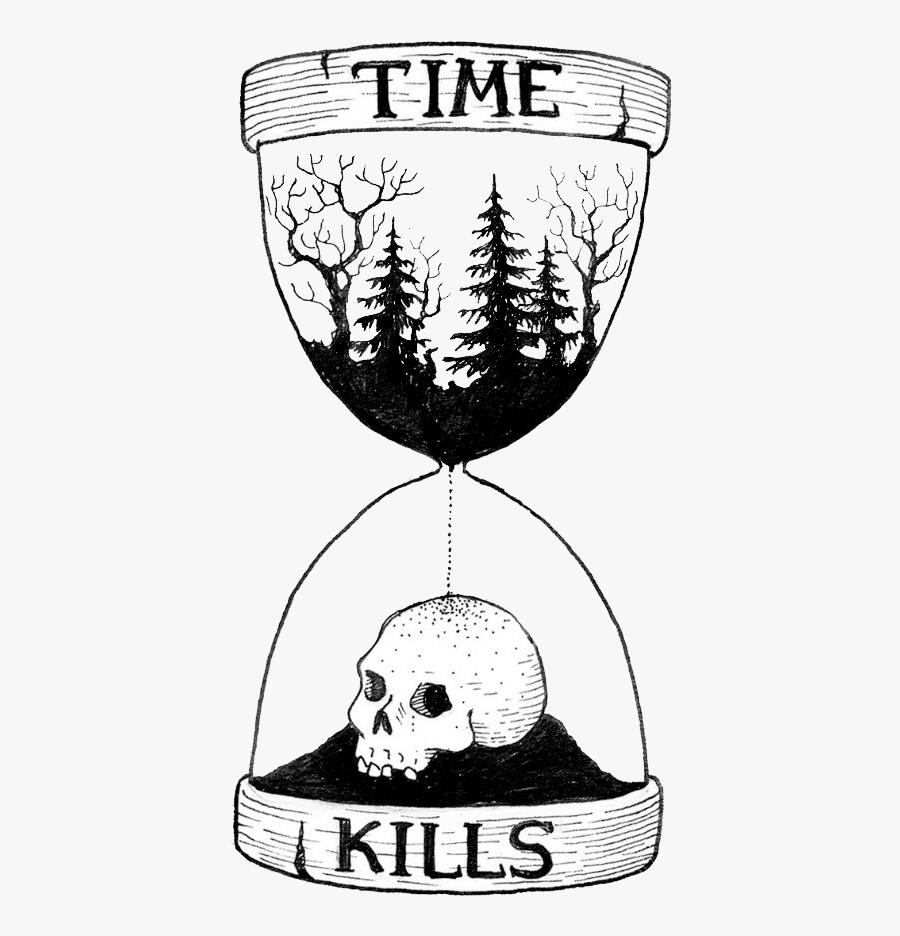 Tattoo Of Element Sands Time Drawing Hourglass - Reloj De Arena Dibujo, Transparent Clipart