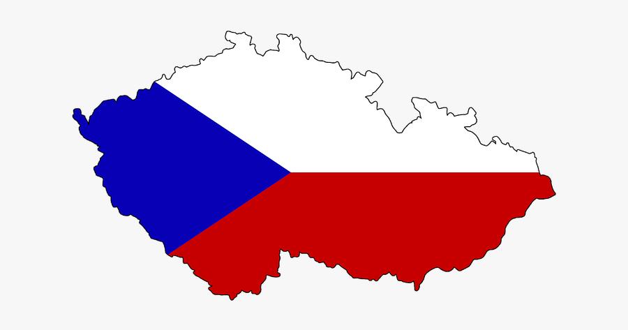 Czech Republic Map Vector, Transparent Clipart