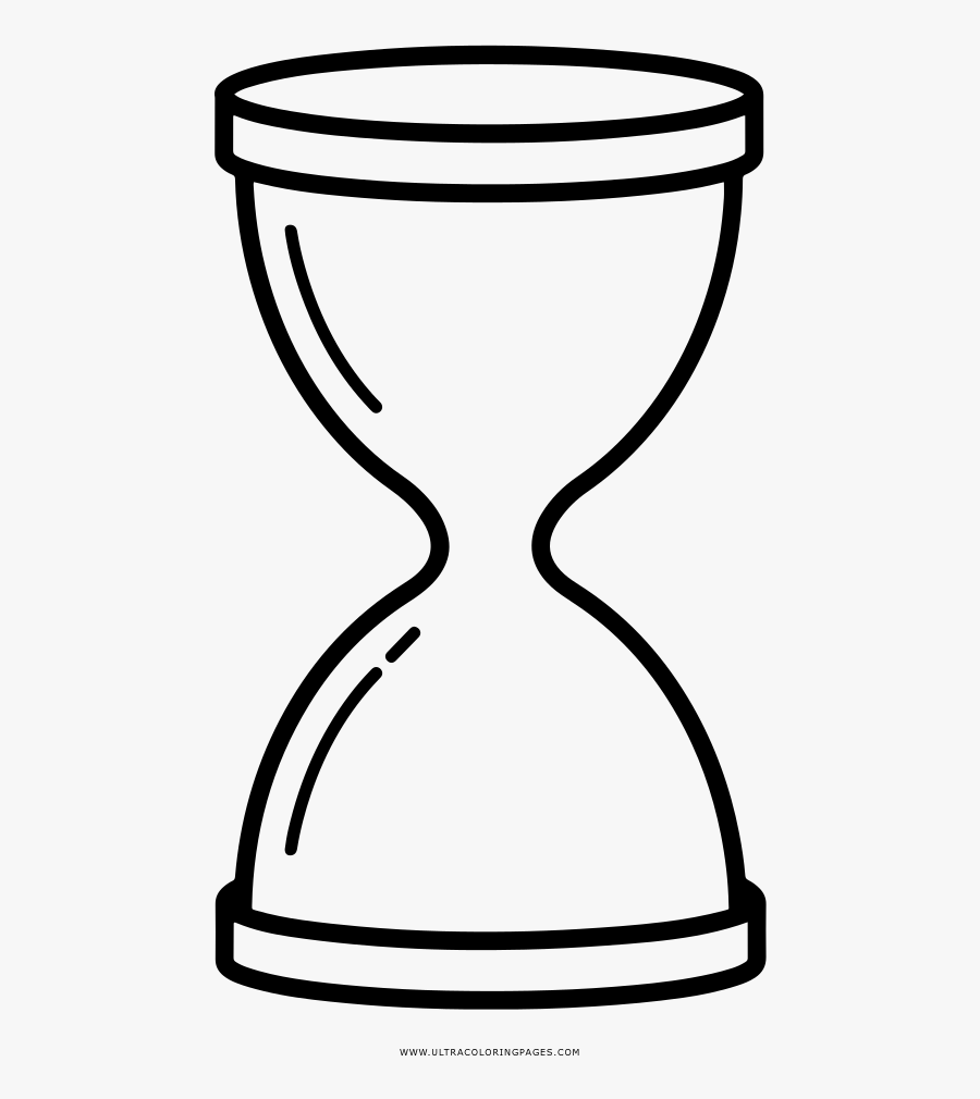 Hourglass Coloring Page - Drawing Hourglass, Transparent Clipart