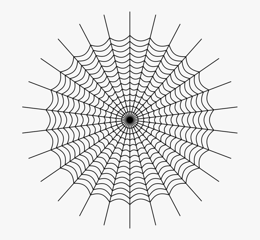 Line Art,plant,angle - Charlottes Web Spider Web, Transparent Clipart