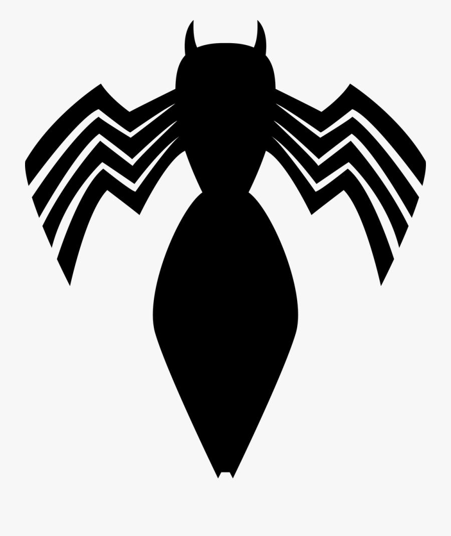 Black Suit Spiderman Symbol, Transparent Clipart