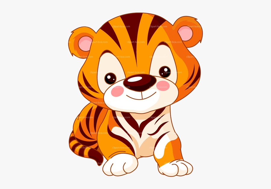 Tiger Free Baby Clipart Images At Vector Clip Art Transparent - Tiger In The Zoo Drawing, Transparent Clipart