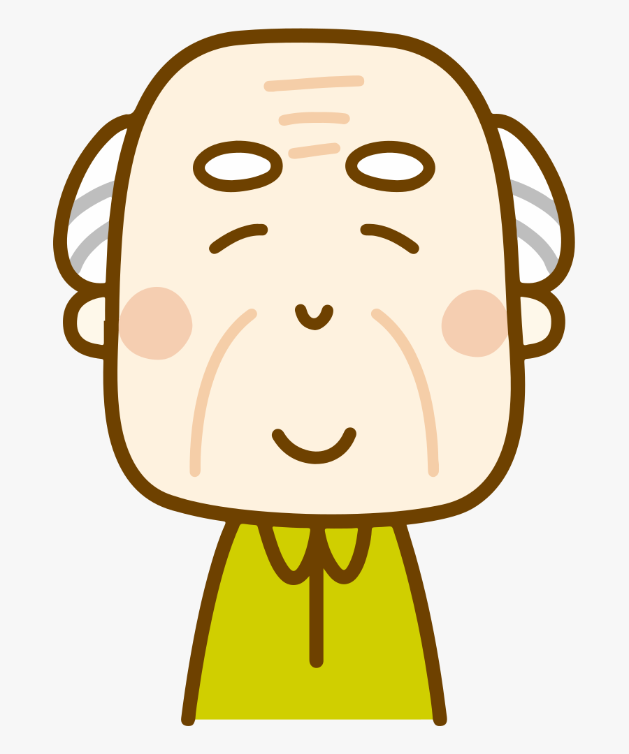 Smiling Old Man - Happy Old Man Cartoon Gif, Transparent Clipart