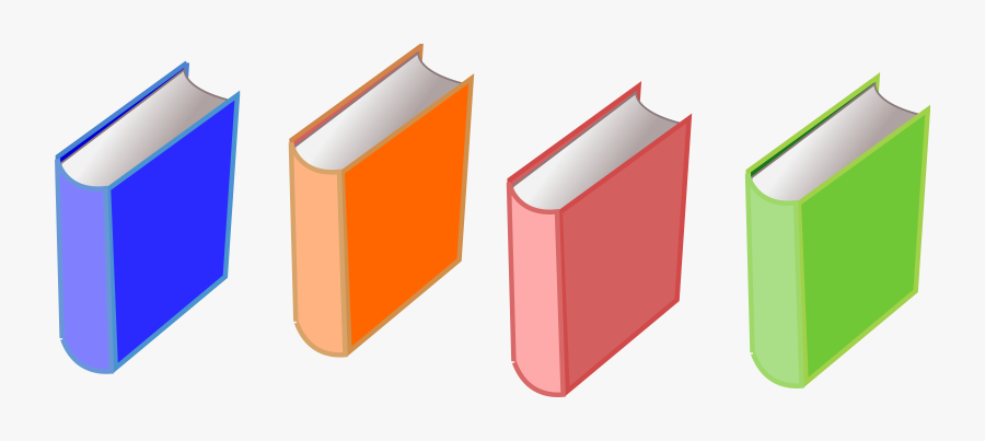 Books Of 4 Png Freeuse Library - Set Of Books Clip Art, Transparent Clipart