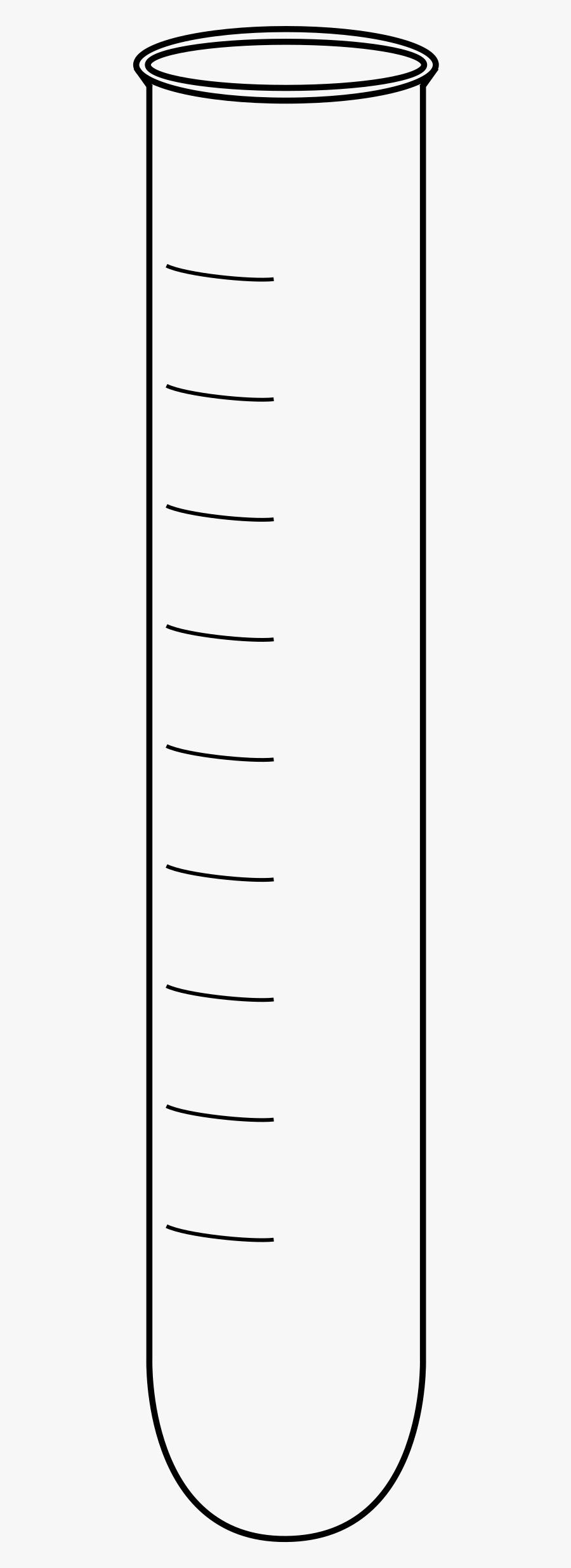 Reagenzglas Leer Skala Clipart - Black And White Empty Test Tube Clip Art, Transparent Clipart