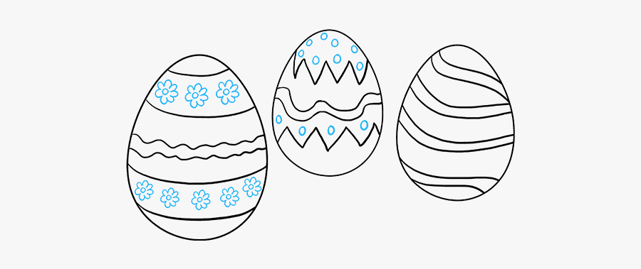 How To Draw Easter Eggs Easy Drawing Of An Easter Egg Free Transparent Clipart Clipartkey