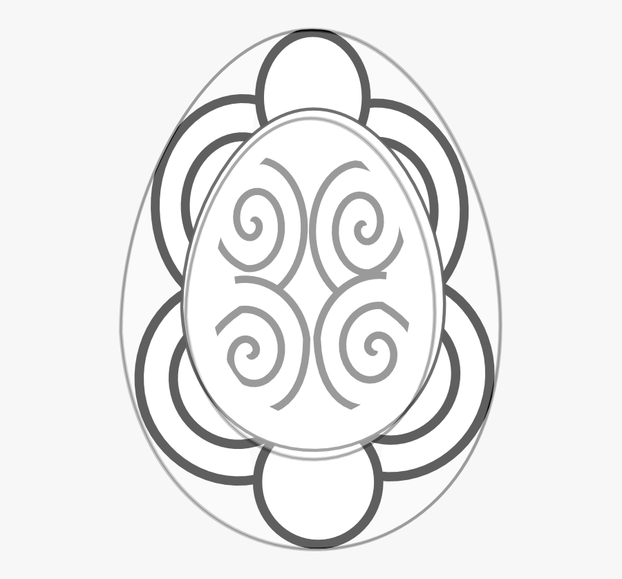 Pysanka 2 Egg Sheet Page Black White Line Wall Paper - Circle, Transparent Clipart