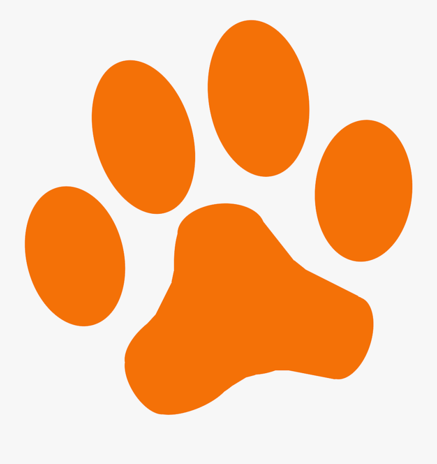 Orange Paw Print Png – Dog cat paw footprint, animal paw print png.