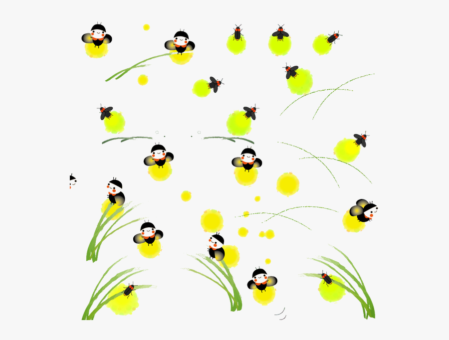Clip Art Fireflies Photo - 螢火蟲 卡通, Transparent Clipart