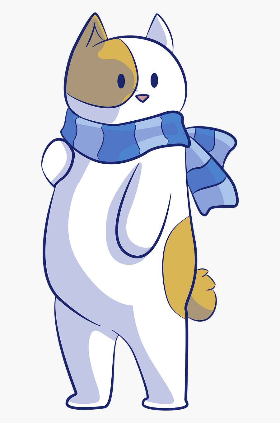 Winter Wear Warehouse - Cat With Scarf Clipart, Transparent Clipart
