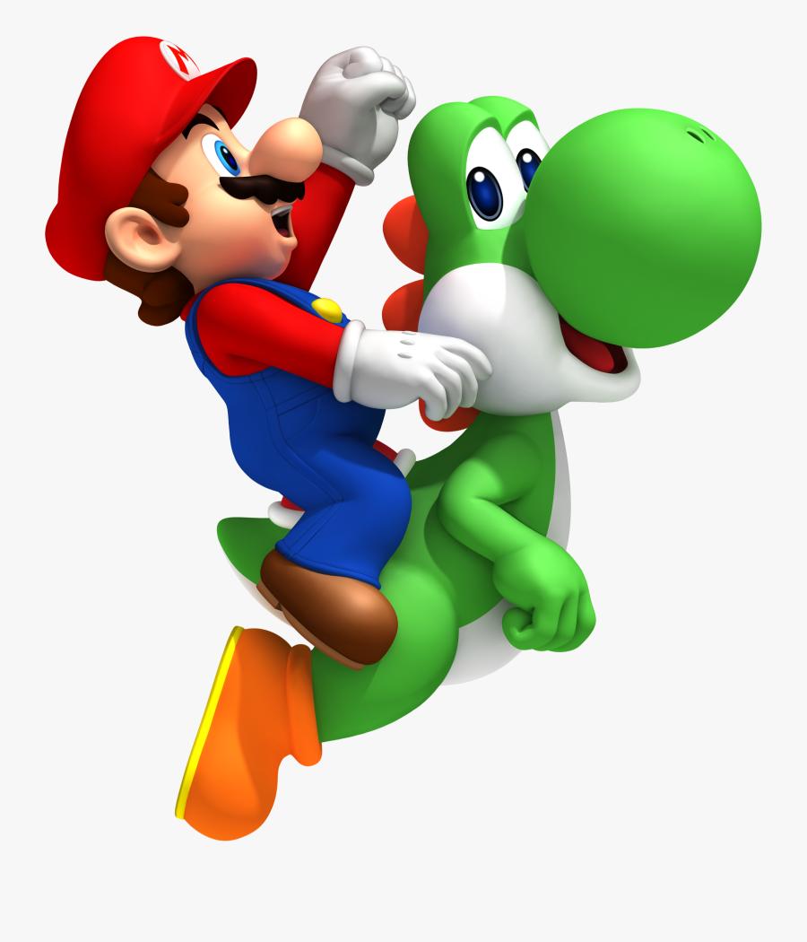 Mario Clipart Yoshi - Super Mario On Yoshi, Transparent Clipart