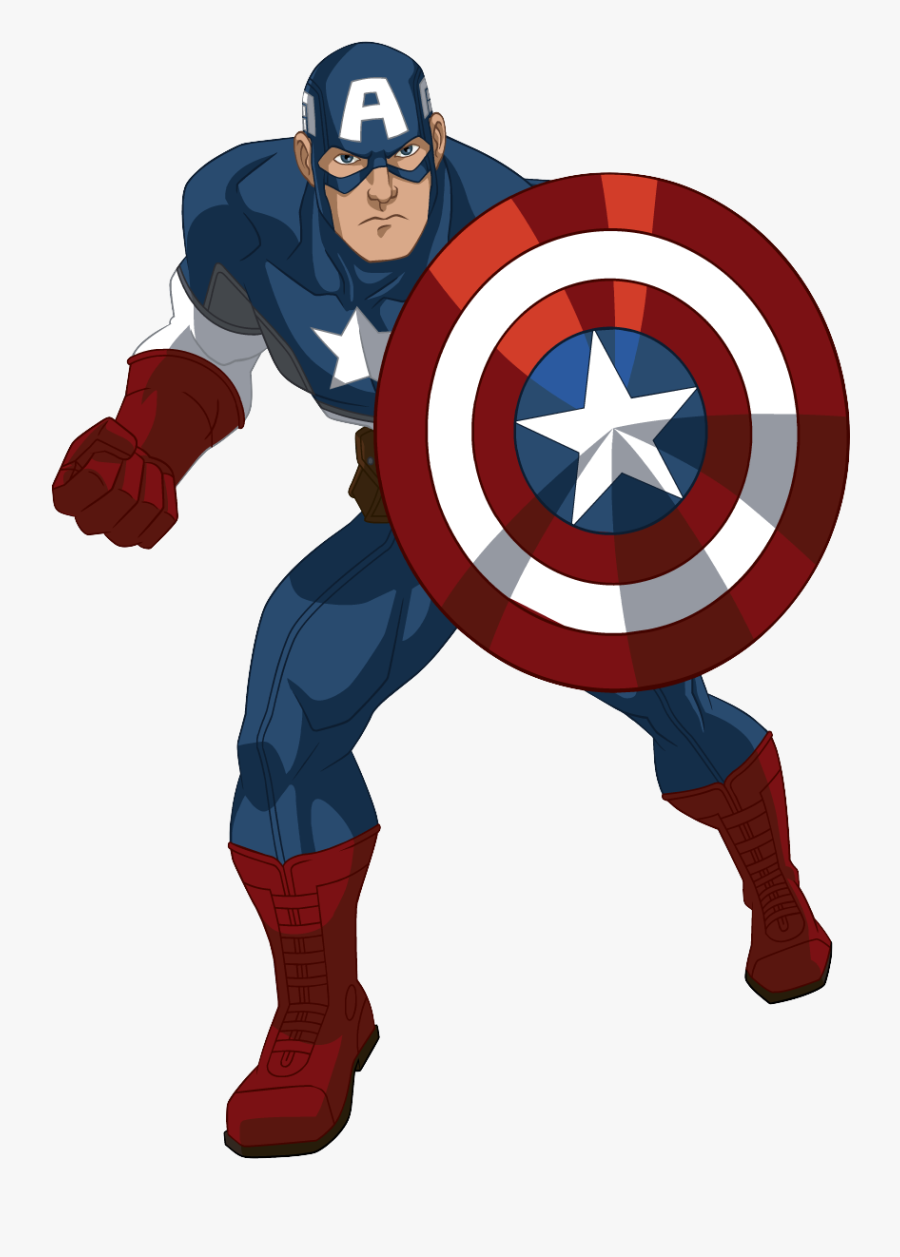 America Comics Spider-man Captain Cartoon Marvel Clipart - Captain America Avengers Cartoon, Transparent Clipart