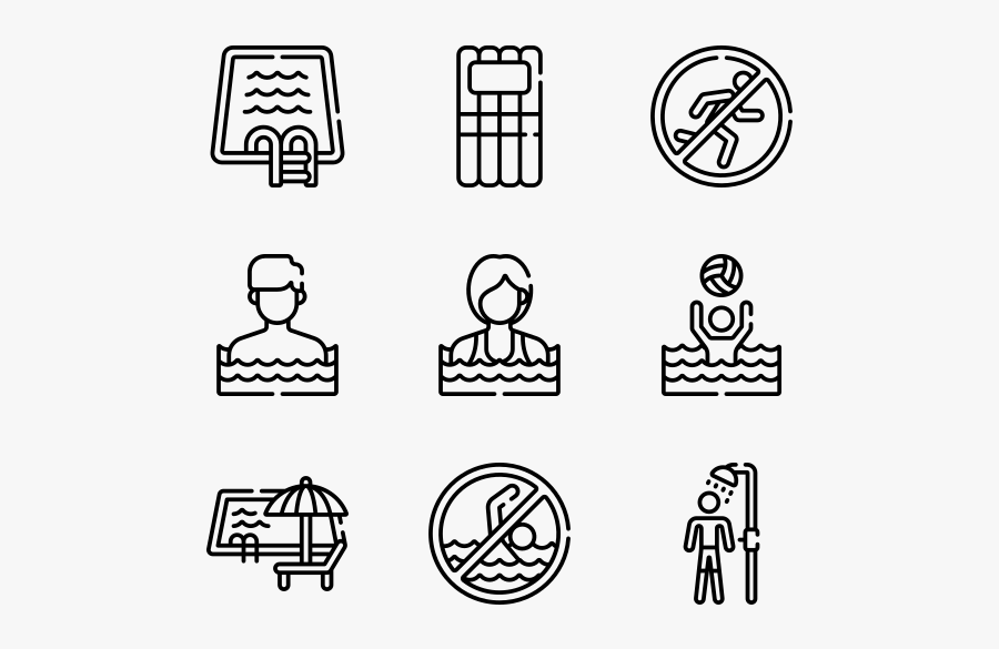 Swimming Pool - Please Wear Swimming Suit Icon, Transparent Clipart