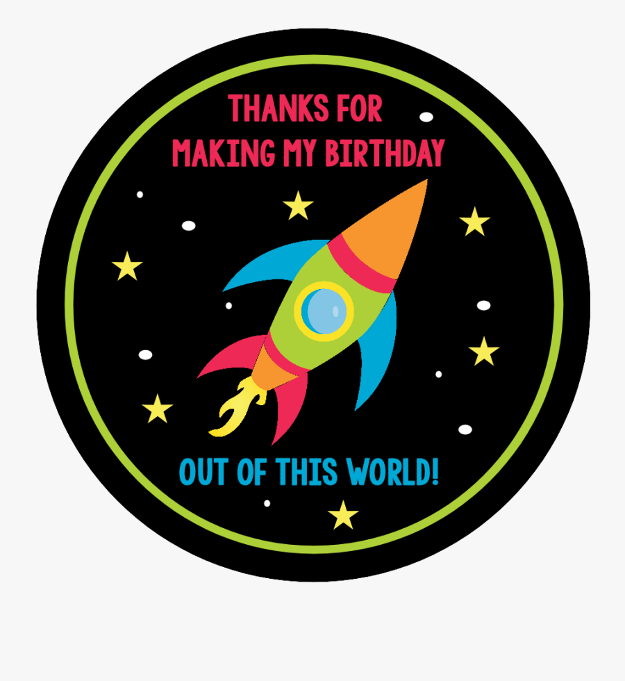 Spaceship Clipart Space Theme - Rocket Birthday Thank You Cards, Transparent Clipart